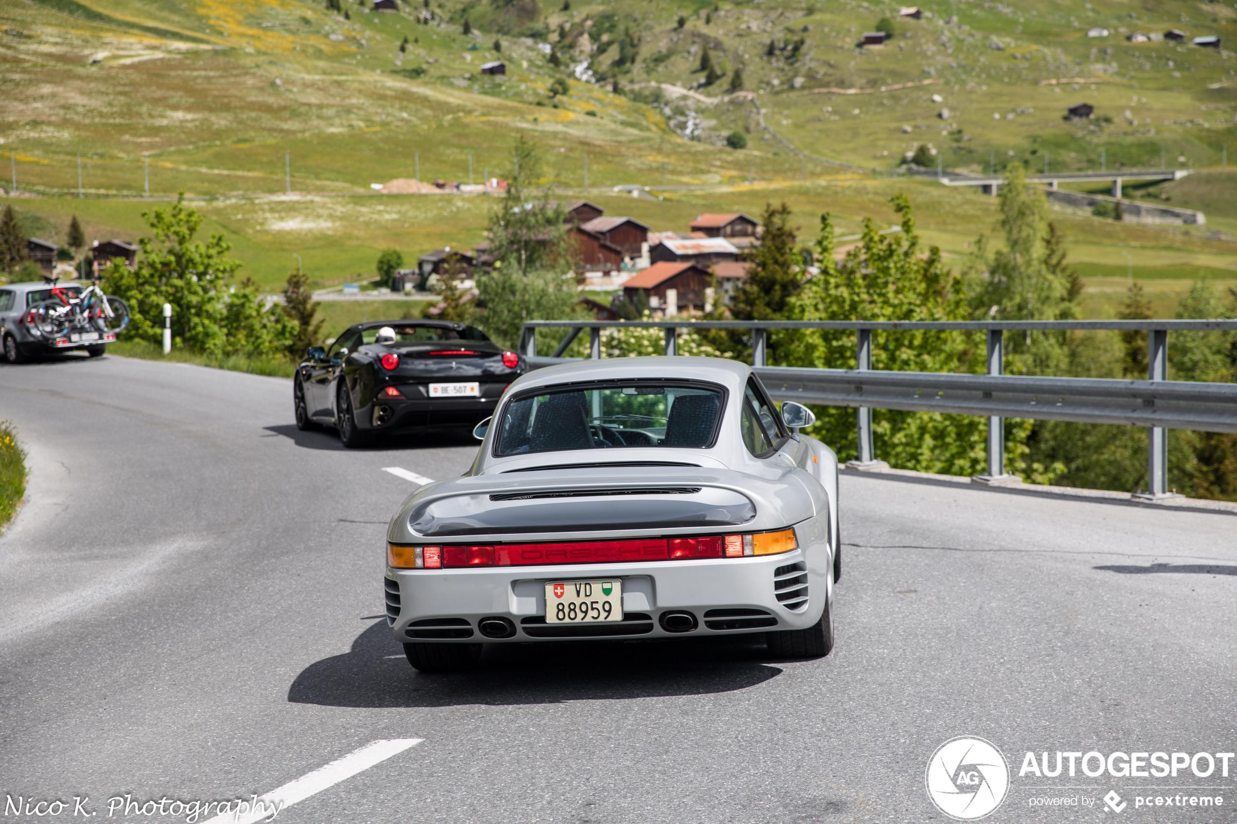 Droom: per Porsche 959 door de Alpen knallen