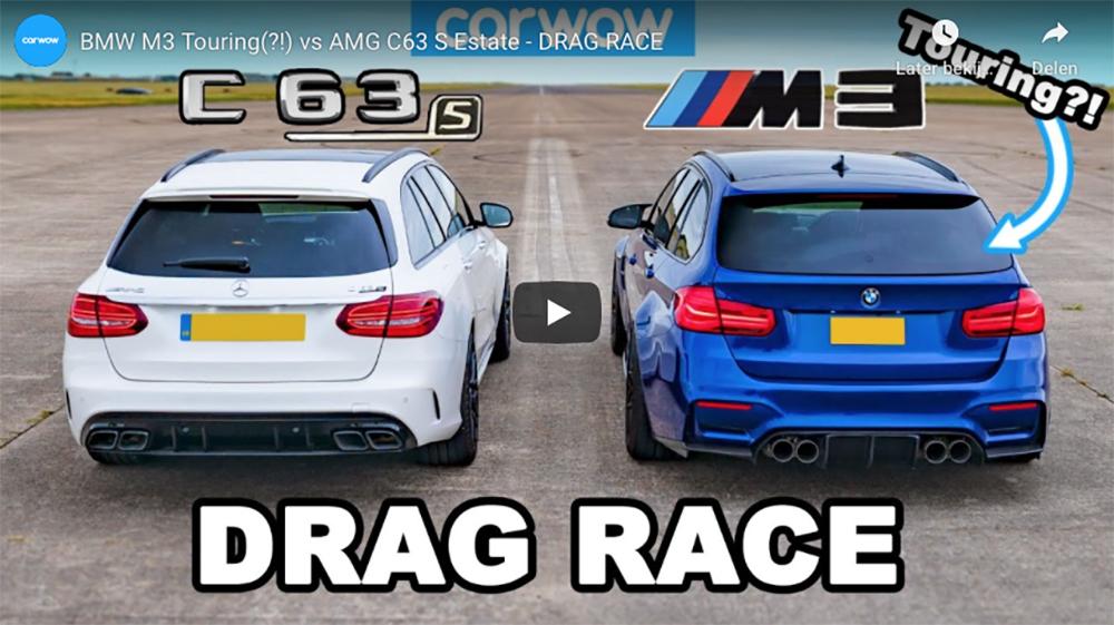 Filmpje: BMW M3 Touring vs Mercedes-AMG C63 S Estate