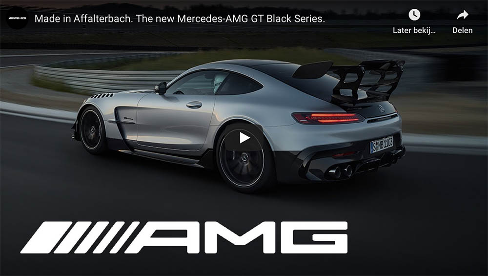 This is the all new Mercedes-AMG GT Black Series