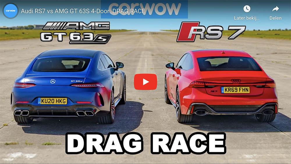 Filmpje: V8 krachtmeting tussen Audi en Mercedes-AMG