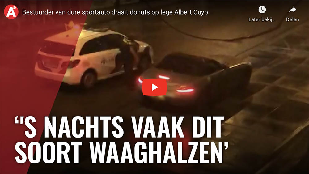Filmpje: bestuurder SLS AMG zal snel spijt hebben van deze donuts