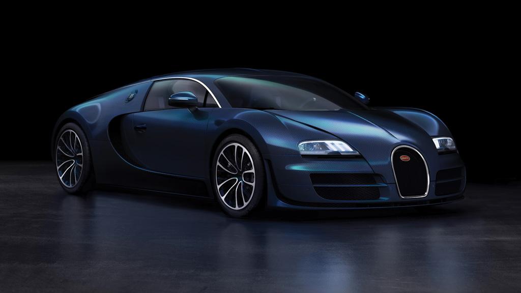 Extravagant De Bugatti Veyron 16 4 Super Sport Blue Carbon