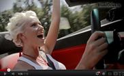 BlondTV's Irina Olhovskaya drives the Lamborghini Gallardo Spyder
