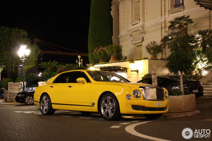Wie had dat gedacht: gele Bentley Mulsanne 2009