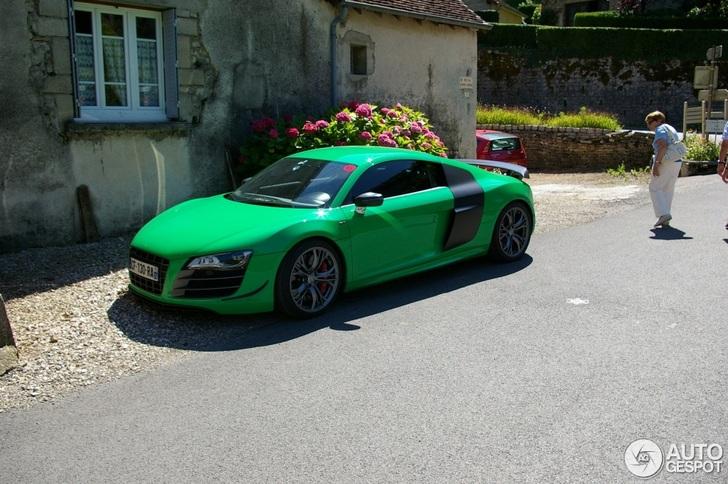 Eigenaar met lef gespot: Groene Audi R8 GT