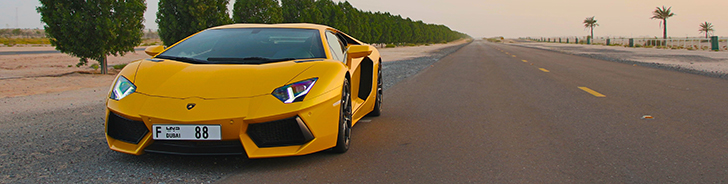 Special: desert run with a Lamborghini Aventador LP700-4