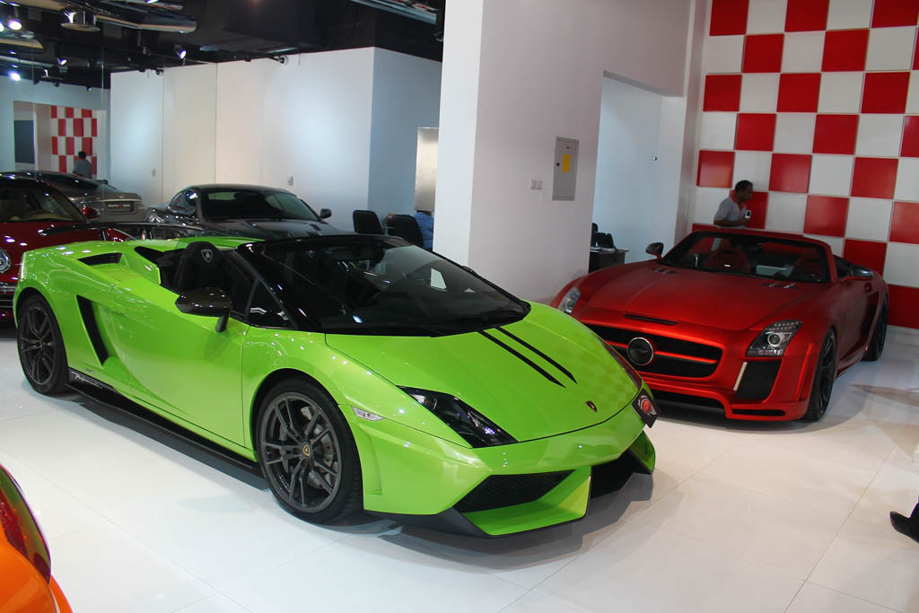 A visit to some supercar dealerships in Dubai