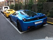 Ferrari 458 Italia Hamann azul de visita a Londres