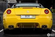599 GTB Fiorano Hamann Amarelo atrai as atenções em Moscovo