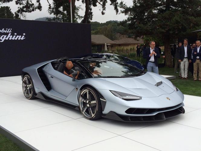 Lamborghini toont trots de Centenario Roadster