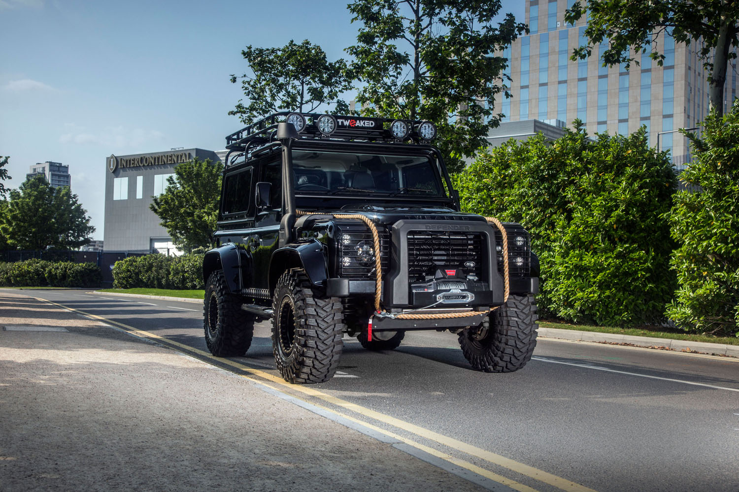 tweaked automotive builds land rover defender 90 spectre edition. Black Bedroom Furniture Sets. Home Design Ideas