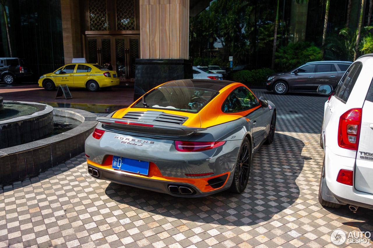 Porsche 991 Turbo S in duo tone kleur
