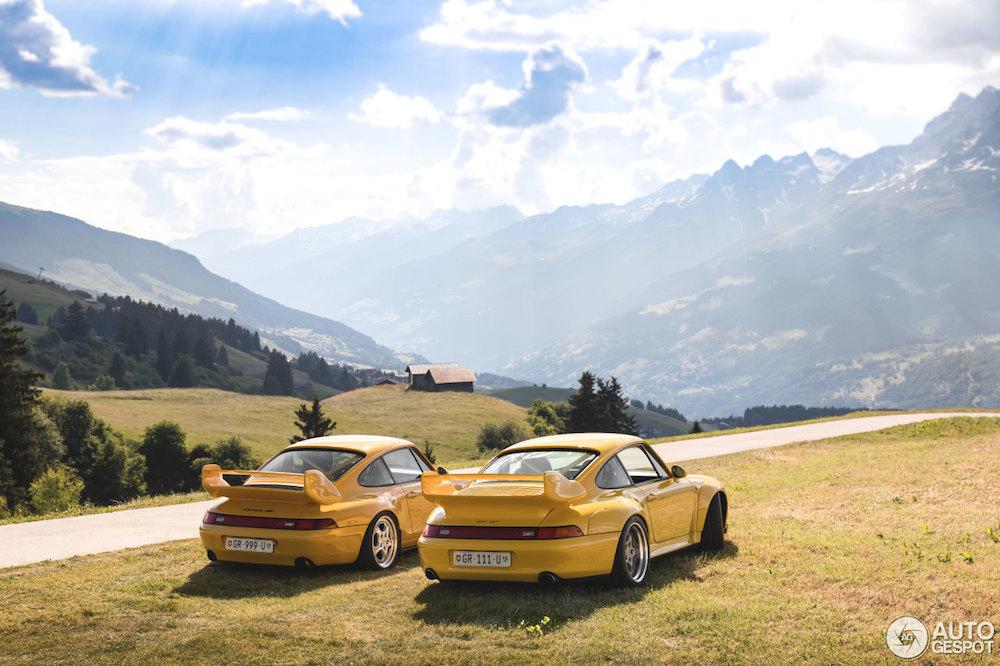 Unieke fotoshoot: Porsche 993 GT2 & Carrera RS Clubsport