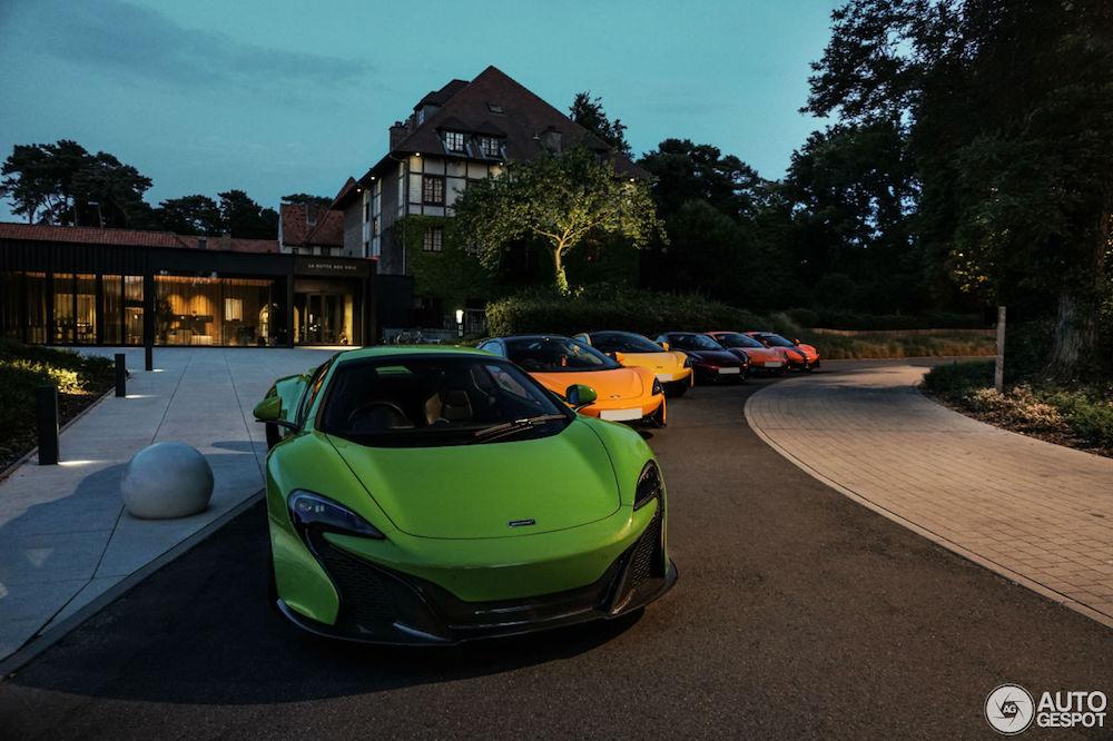 Combo: kleurrijke waaier van McLarens