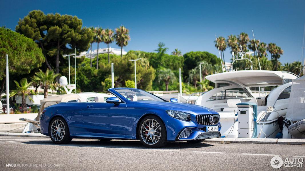 Mercedes S63 Cabrio is een jacht voor op de weg