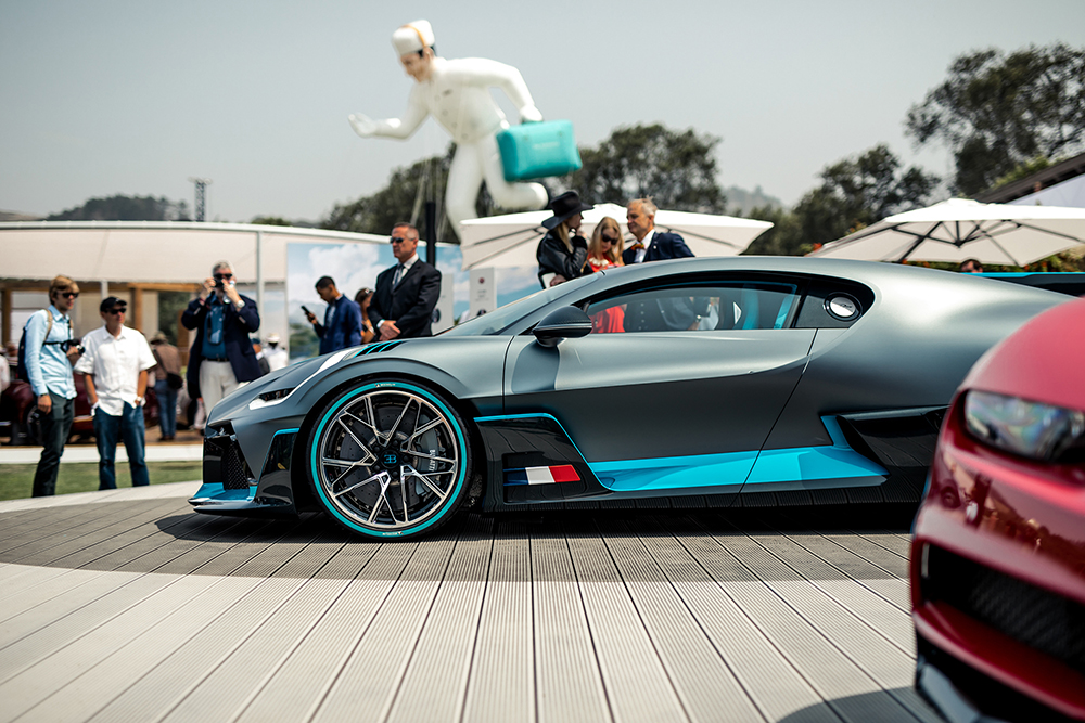 Meeting the Bugatti Divo at the Quail