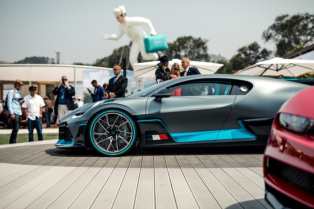 Meeting the Bugatti Divo at the Quail