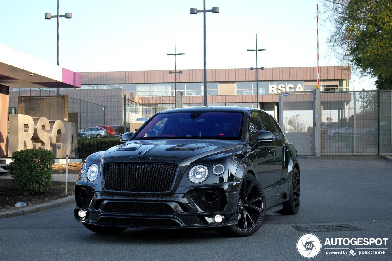 Bentley Mansory Bentayga heeft het krap