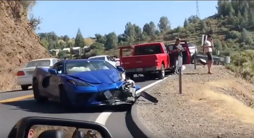Dit is de eerste Chevrolet Corvette C8 die is gecrasht