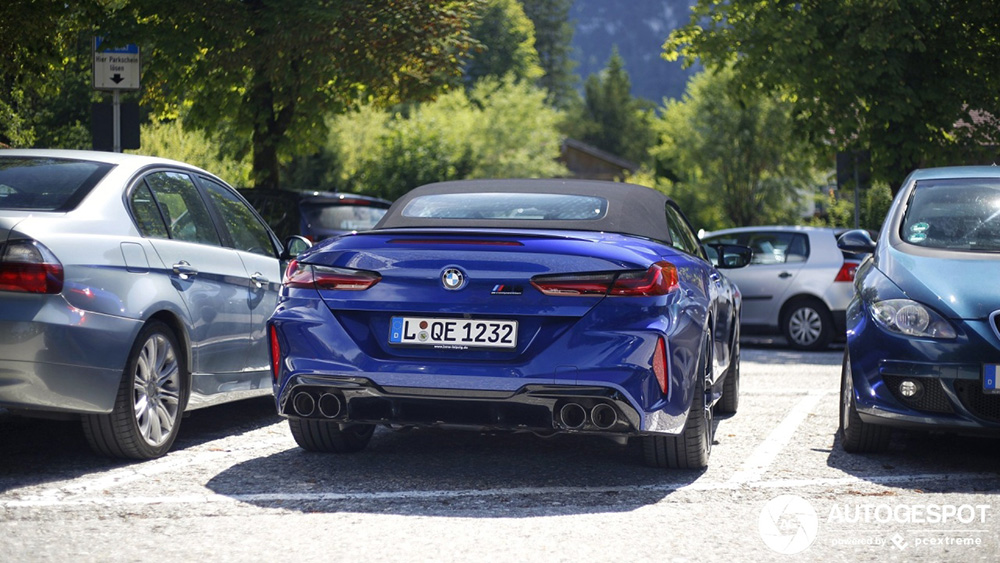 Dit is de BMW M8 Cabriolet Competition op straat!