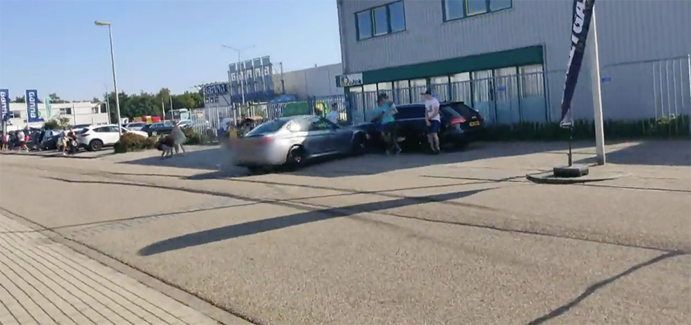 BMW M3 Competition crashes into 3 people during Streetgasm event