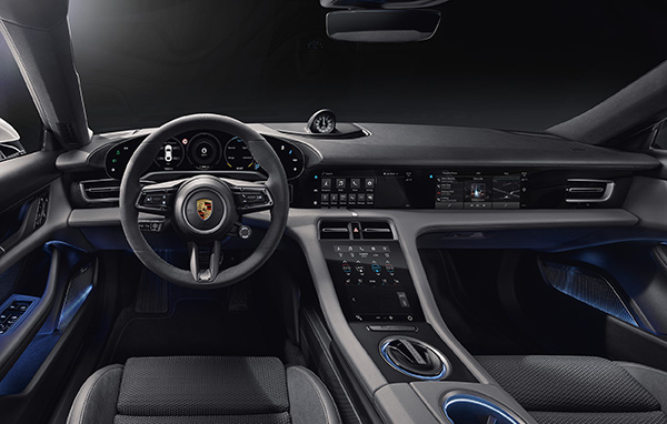 Porsche shows off interior of Taycan