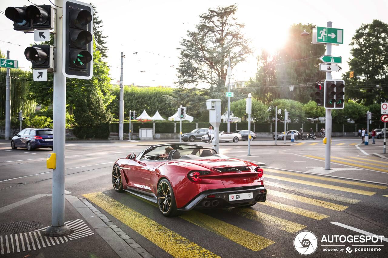 Weer een Aston Martin Vanquish Volante Zagato gespot