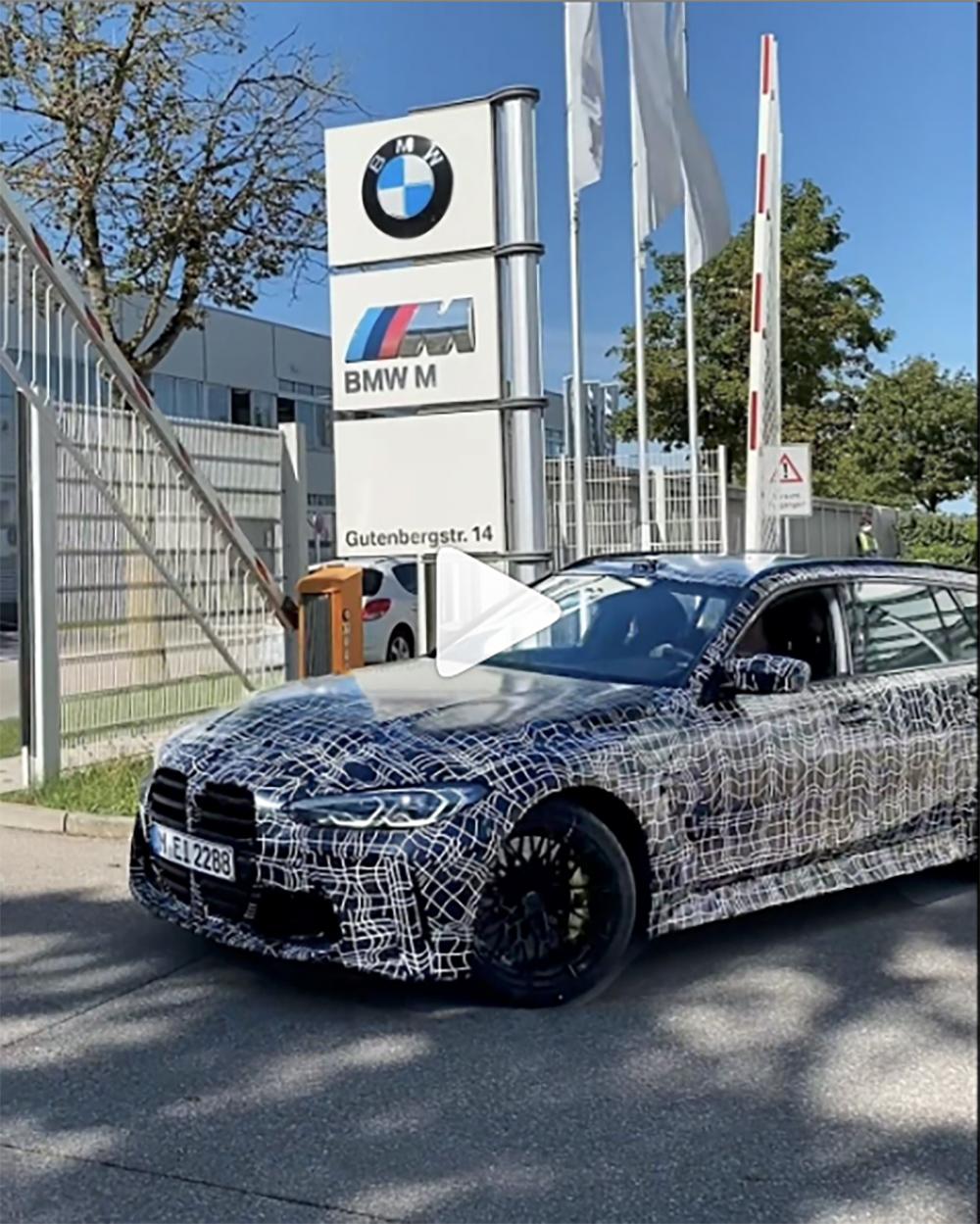 BMW laat de M3 Touring rijdend zien