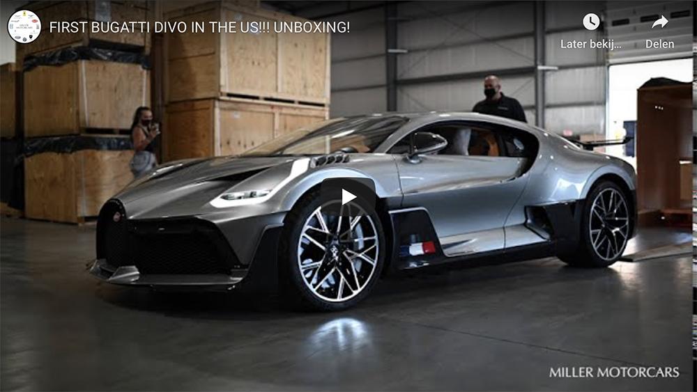 Filmpje: zo pak je een Bugatti Divo uit