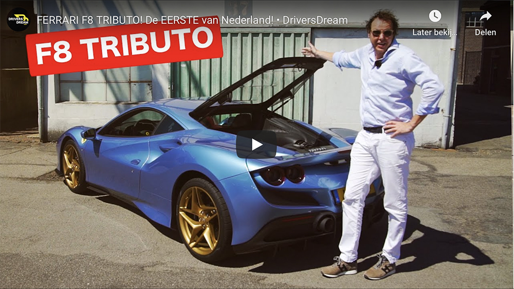Filmpje: Sjoerd van Stokkum gaat los met Ferrari F8 Tributo