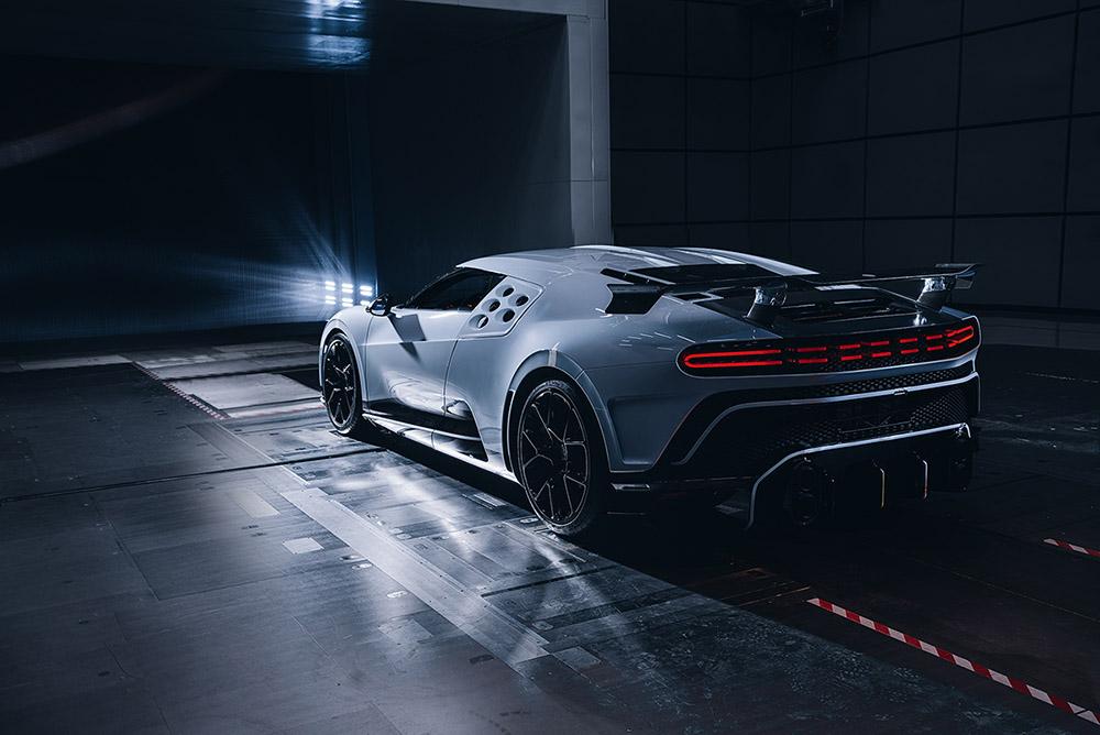 Bugatti Centodieci succesvol door windtunnel tests gekomen