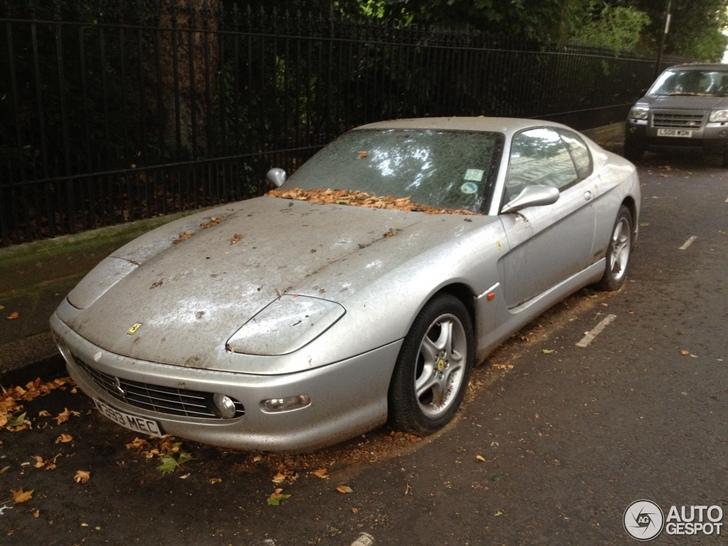 Enorm smerige Ferrari 456M GT gespot in Londen