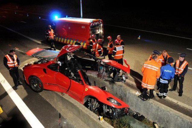 Dodelijk ongeval met Ferrari F430 nabij Spa-Francorchamps
