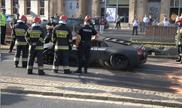 Lamborghini crashes in center of Wroclaw