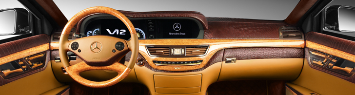 You can't buy taste: TopCar makes the interior of a Mercedes-Benz S600 Guard a piece of art