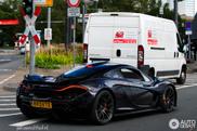 McLaren P1 сфотографирована в центре Франкфурта