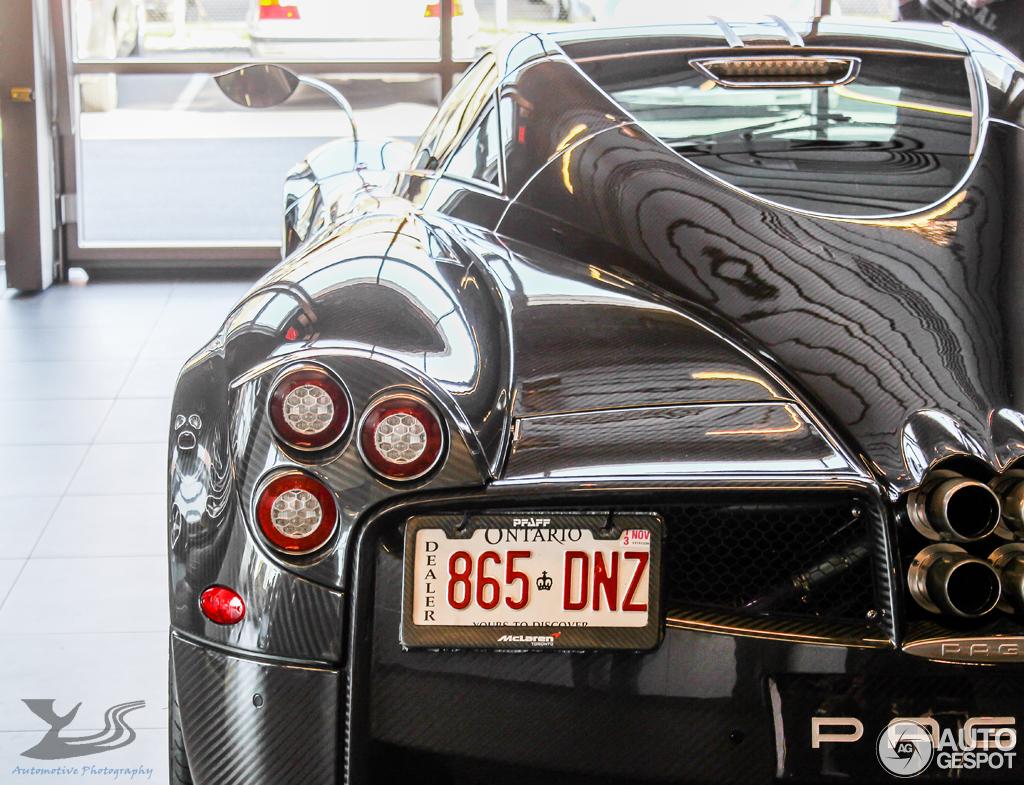 Pagani Huayra is captured at a dealership in Toronto