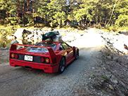 Vlasnik kampuje sa svojim Ferrarijem F40