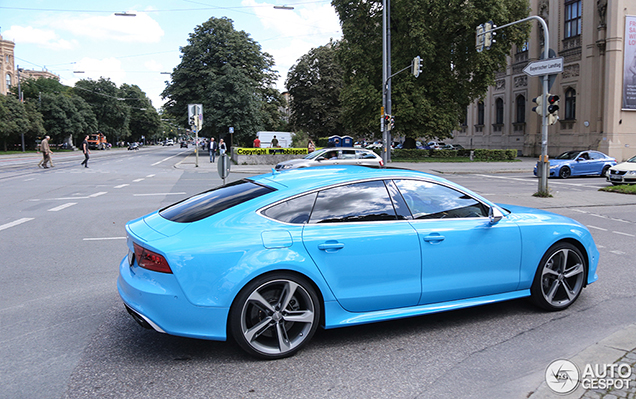 Spotted Audi Rs7 Sportback In A Baby Blue Colour