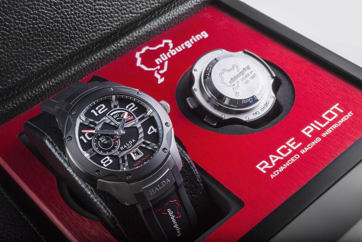 Perfectie: Nürburgring Race Pilot Limited Edition door Halda Watch