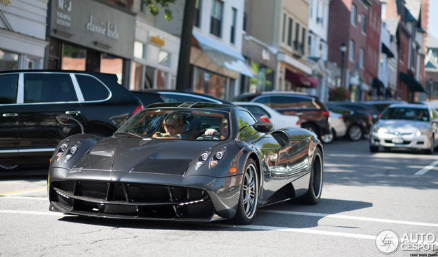 Another hypercar spotted in Greenwich: Pagani Huayra
