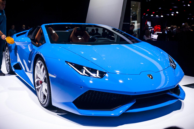 iaa 2015 lamborghini huracn lp610 4 spyder - Lamborghini Huracan Blue
