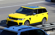 Yellow doesn't look that good on the Range Rover Sport SVR