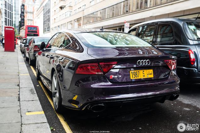 Zeldzaam mooie Audi RS7 in Londen!