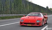 Iconische Ferrari F40 is de spot van de dag
