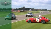 Painful: Ferrari 250 GTO/64 crashes at Goodwood