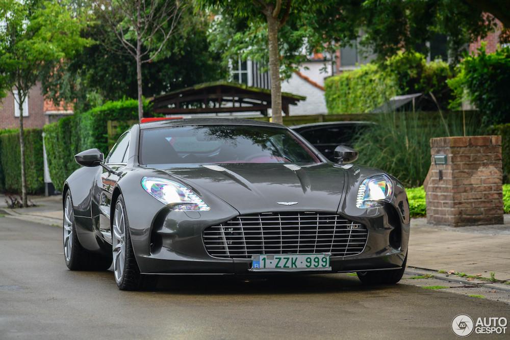Topspot: Aston Martin One-77 in Kortrijk Belgium