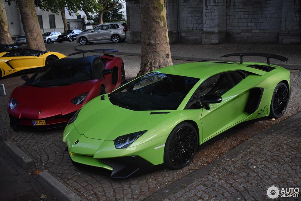 Kleurrijke Lamborghini combo in Maastricht