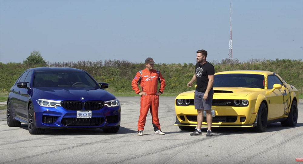 Dodge Demon versus de BMW M5 F90 Competition