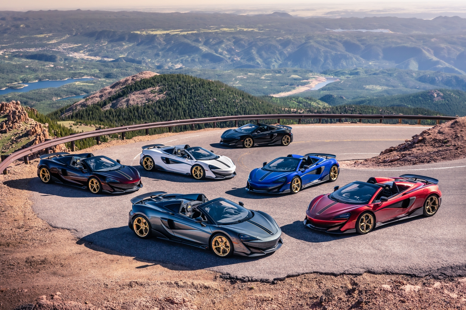 6 x 600LT Spiders 'Pikes Peak Collection' for McLaren Denver